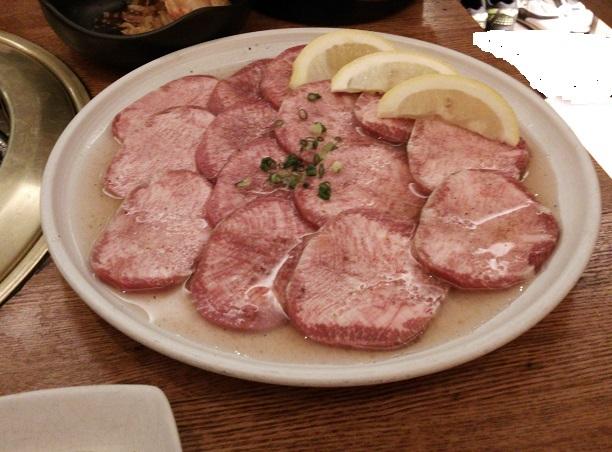 肉厚で新鮮な上タン塩